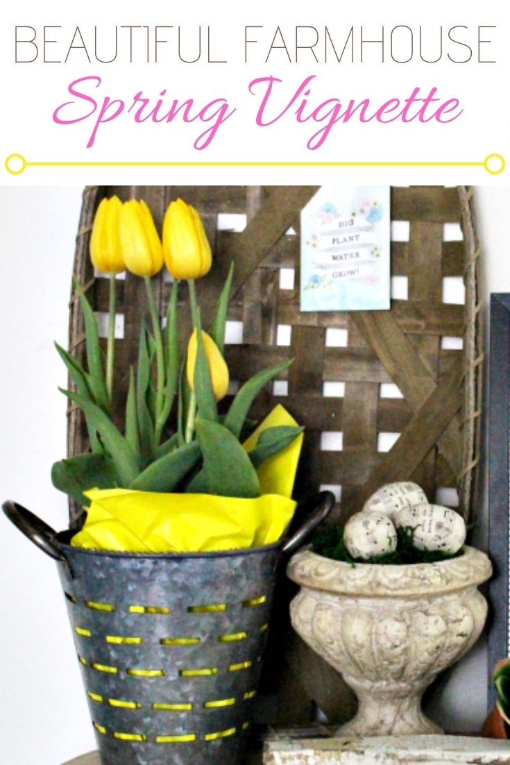 yellow tulips with tobacco basket