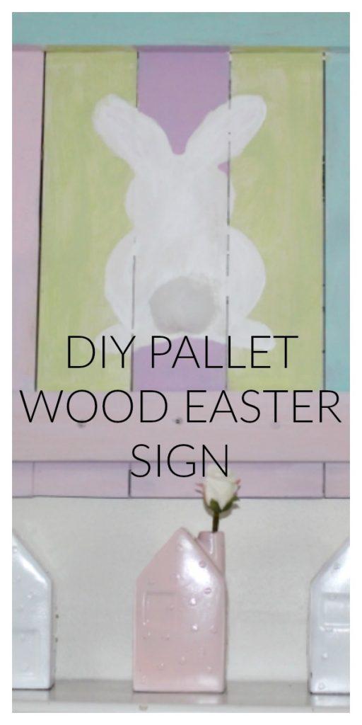DIY Pallet Wood Easter Sign