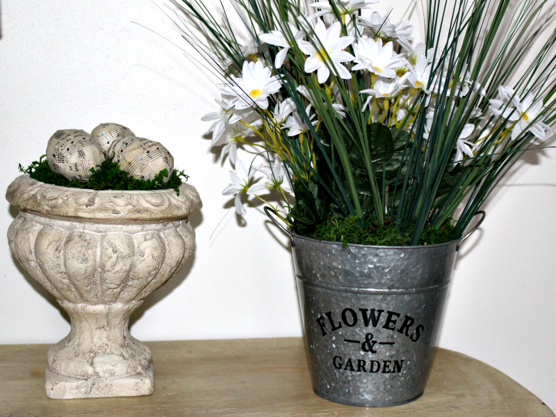 Easy To Make Dollar Store Spring Arrangement Our Crafty Mom