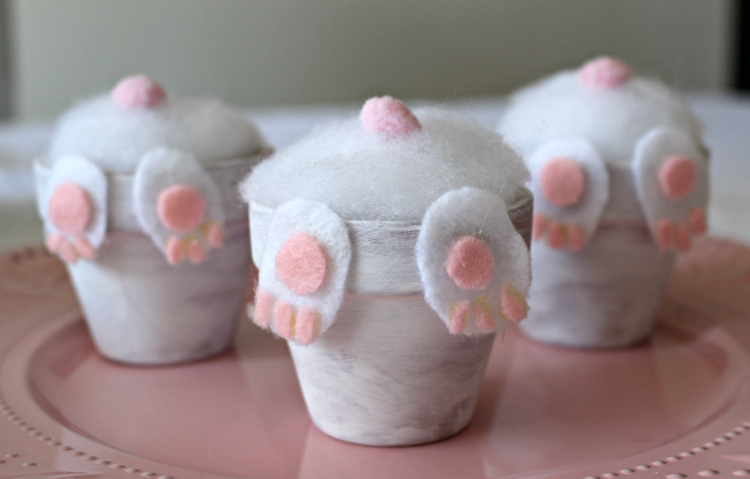 How To Make An Adorable Clay Pot Bunny Butt