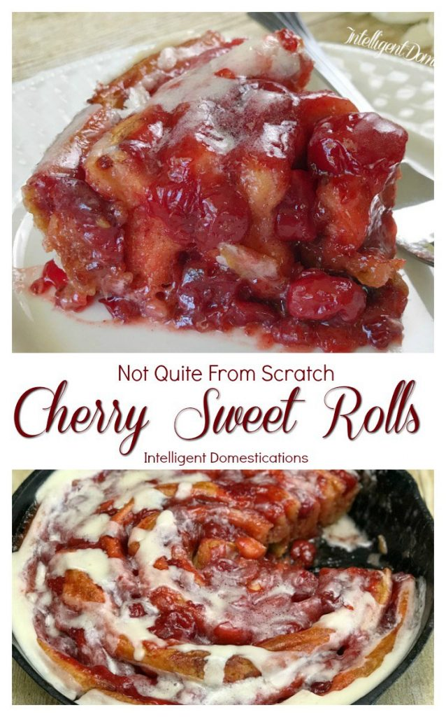 Delicious Cherry Sweet Rolls With Just Two Ingredients Our Crafty Mom #pinterestchallenge #cherrysweetrolls #recipes