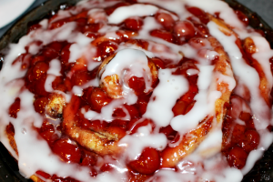 Delicious Cherry Sweet Rolls With Just Two Ingredients