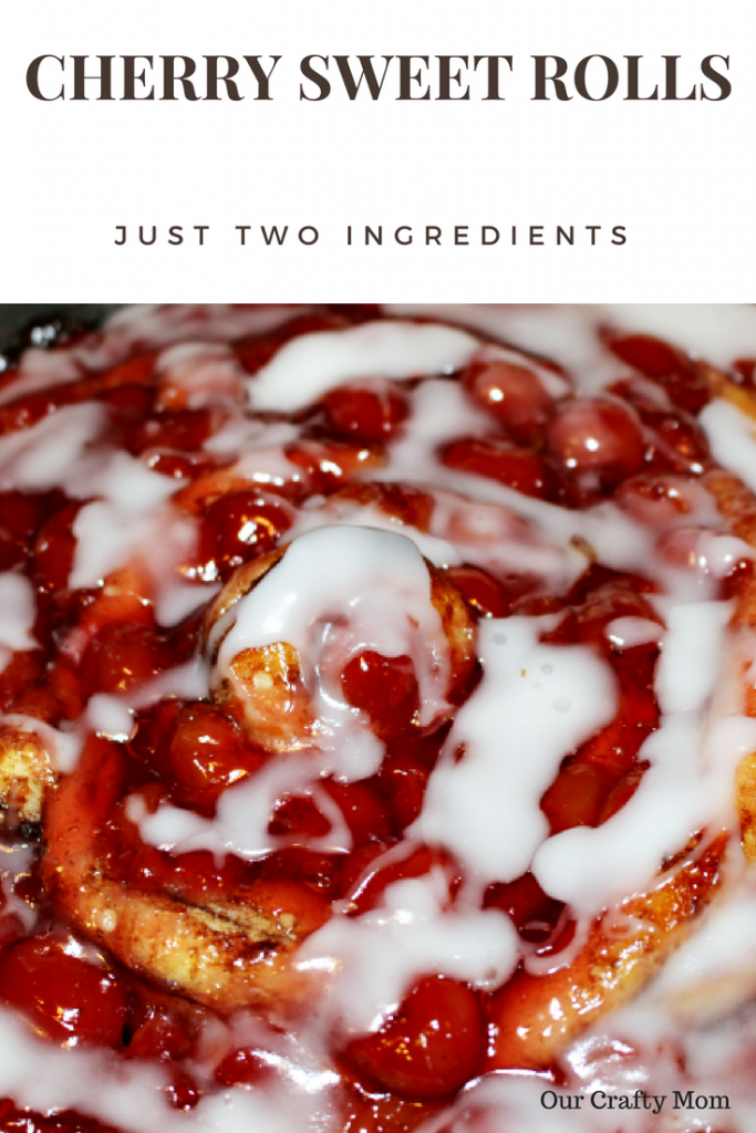 two ingredient cherry sweet rolls