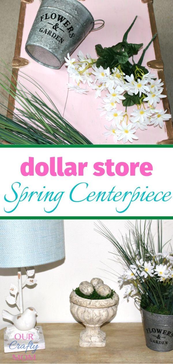 dollar store spring arrangement supplies