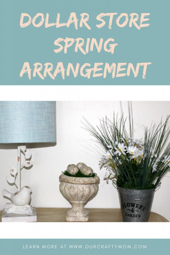 Dollar store spring arrangement