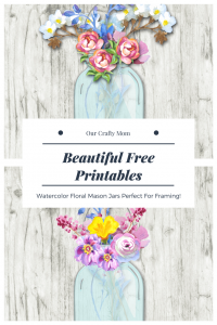 Free Printables – Beautiful Floral Watercolor Mason Jars