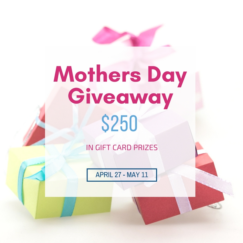 Mother's Day Giveaway - $250 In Gift Card Prizes Our Crafty Mom #giveaway #giftcards #mothersday #prizes