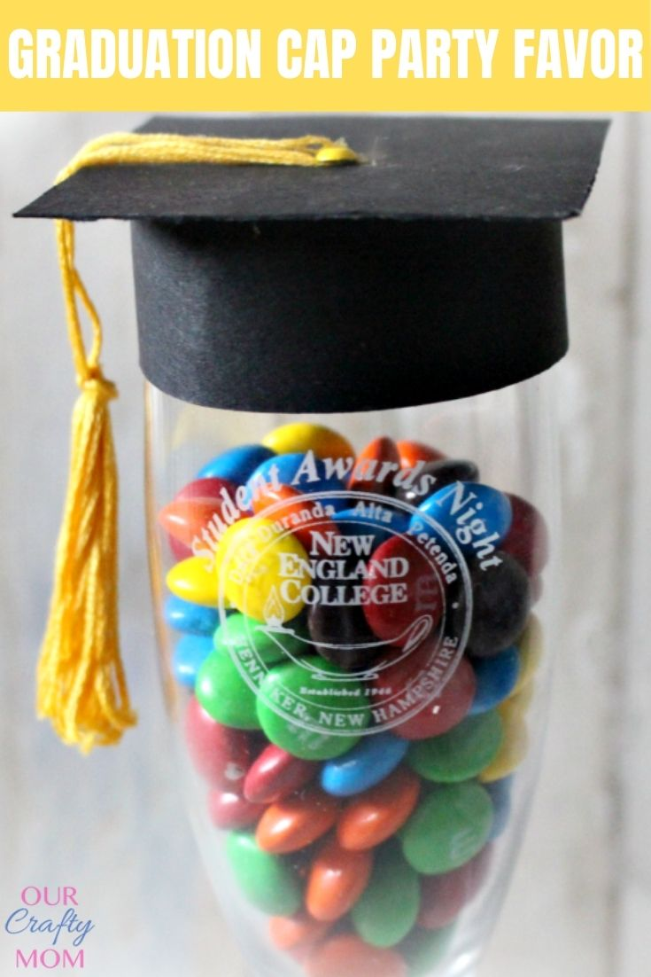 Make A Cool Graduation Champagne Glass Party Favor