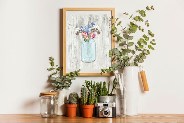 Free Printables - Beautiful Floral Watercolor Mason Jars Our Crafty Mom. Hello! Happy Saturday! I am so excited to share my first set of exclusive free printables with you! These Beautiful Floral Watercolor Mason Jars are perfect for framing and go with pretty  much any decor and who doesn't like mason jars right? #freeprintables #masonjars