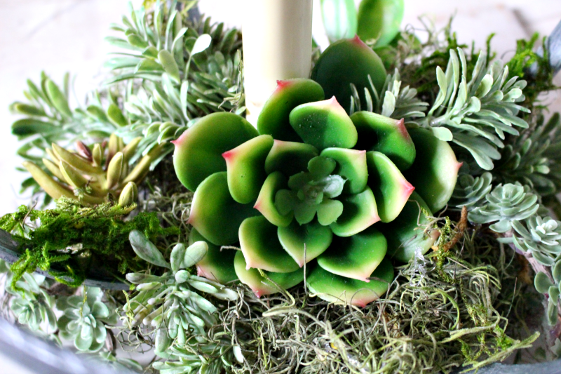 How To Make A DIY Embroidery Hoop Succulent Planter Our Crafty Mom #embroideryhoop #repurposed #diy #succulents #farmhouse