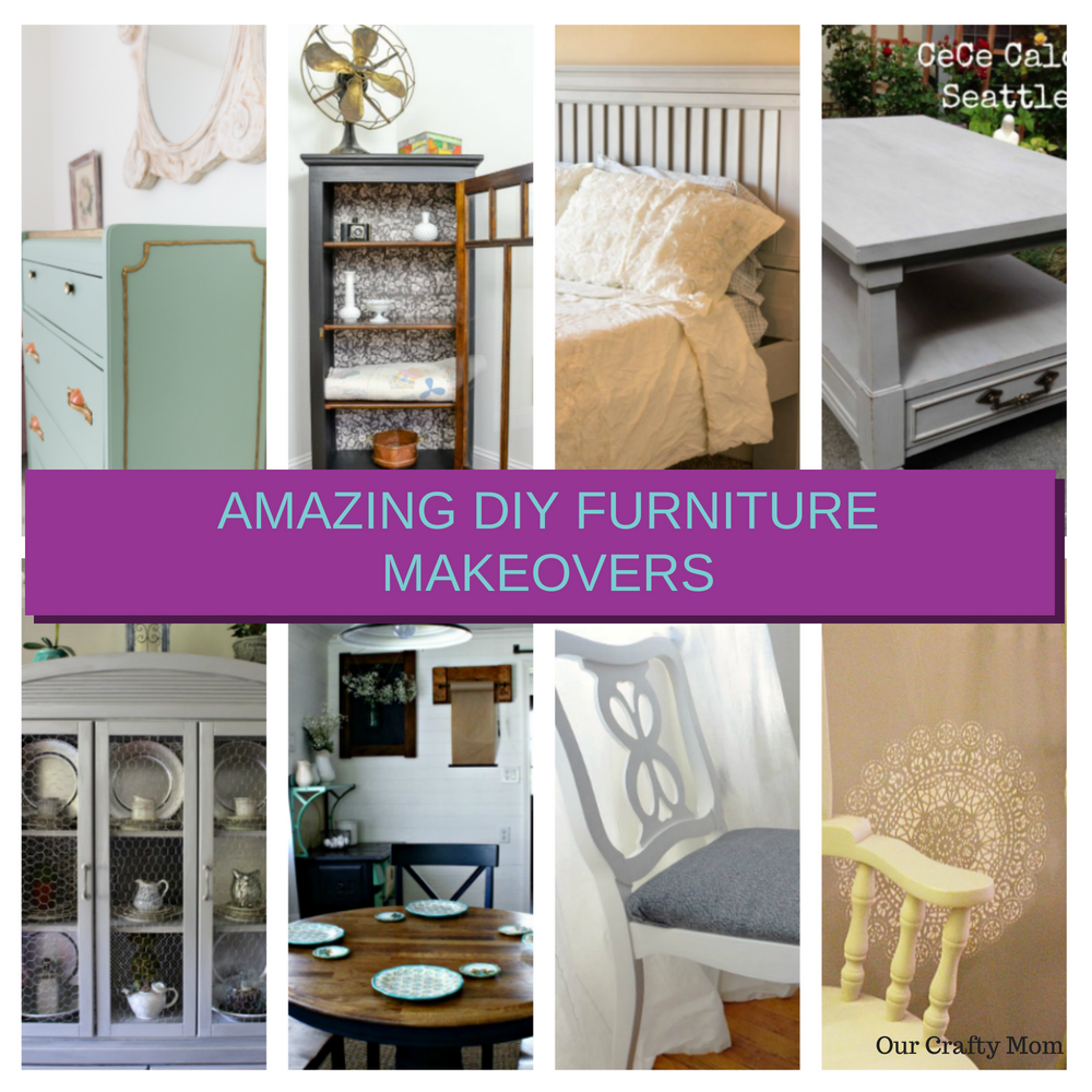 Amazing DIY Furniture Makeovers To Inspire You Our Crafty Mom #merrymonday #refinishedfurniture #diy #furnituremakeover #ourcraftymom