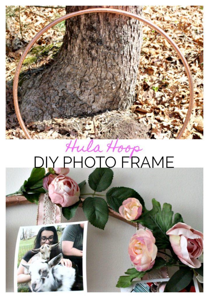 DIY Hula Hoop Photo Frame