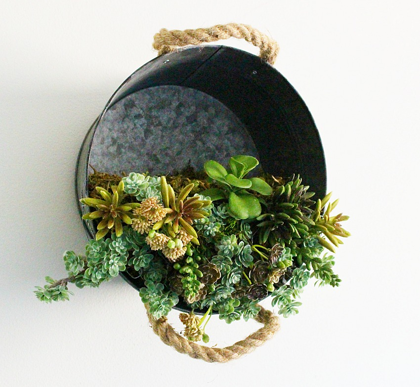 Galvinized-Bucket-Hanging-Succulent-Planter-Our-Crafty-Mom-4