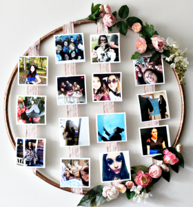 How To Make A DIY Floral Photo Hoop