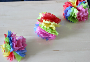 How To Make DIY Hanging Tissue Paper Flower Garland