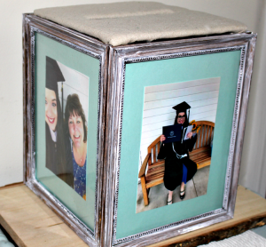 Easy DIY Graduation Photo Frame Card Box