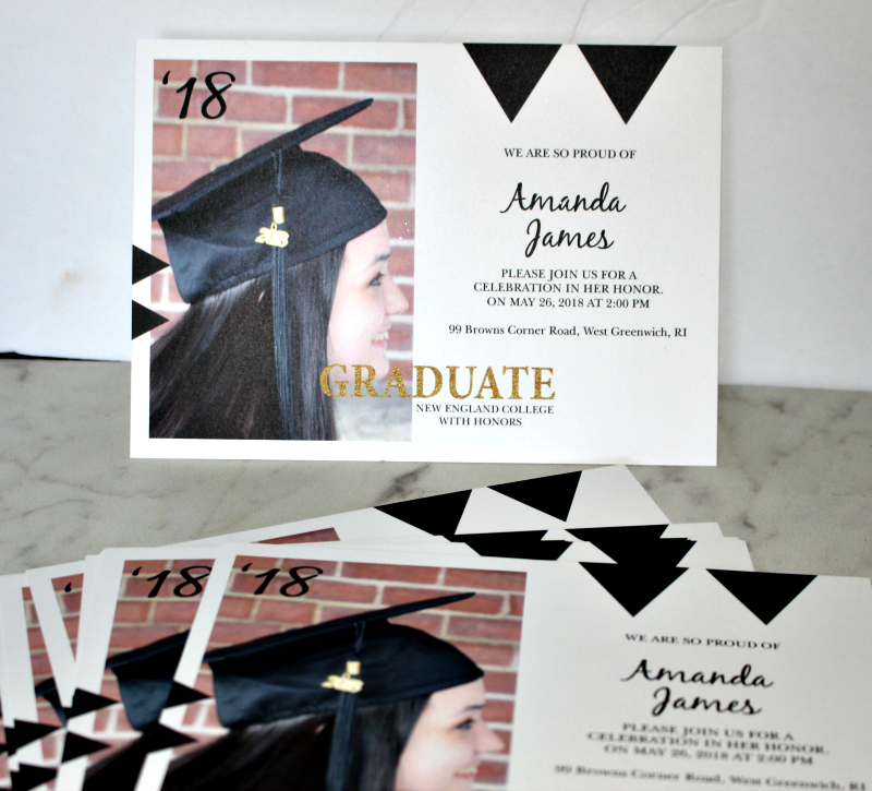Celebrate The Moment With Personalized Graduation Invitations Our Crafty Mom @basicinvite #invitations #personalizedinvitations #graduationthankyoucards #graduationinvitations