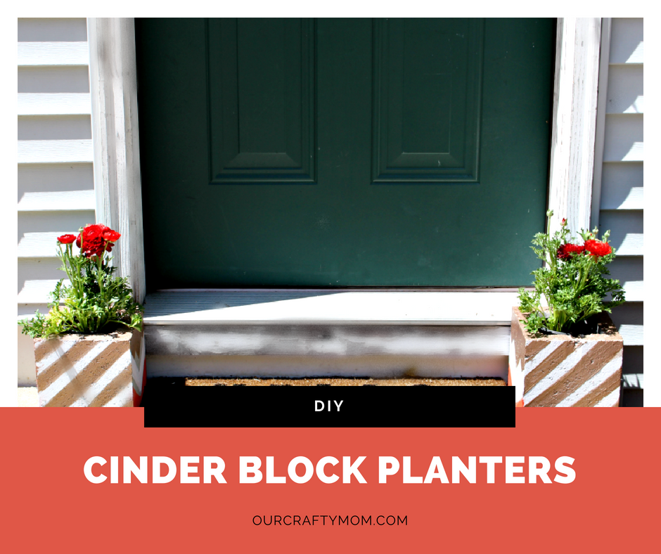 Easily update Cinder Blocks with metallic paint and designs of your choice for a fun, inexpensive planter option!