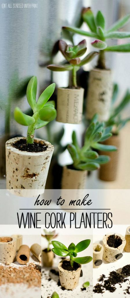 Quick And Easy DIY Wine Cork Succulent Magnets Our Crafty Mom #pinterestchallenge #winecorks #winecorksucculents #ourcraftymom