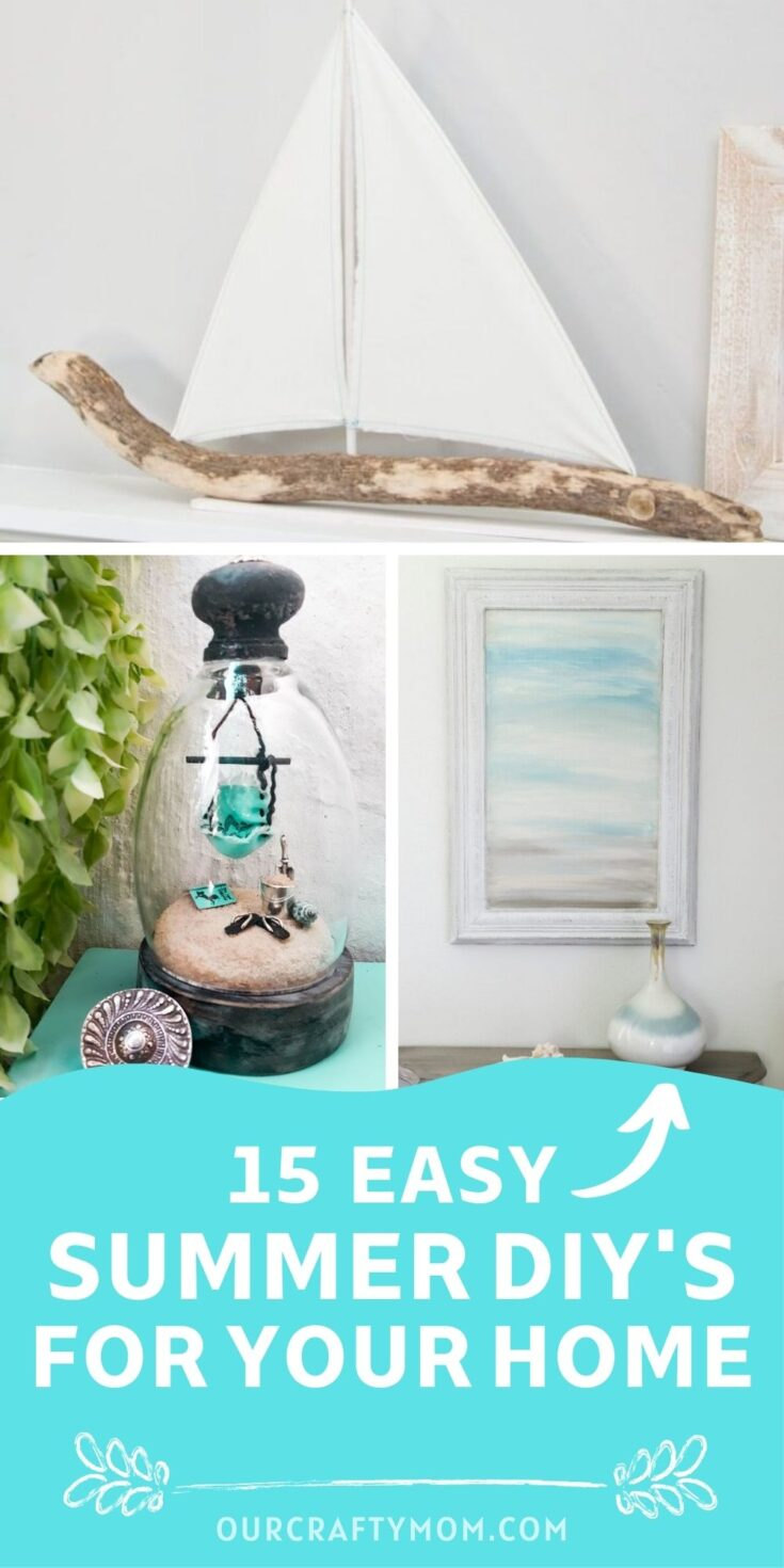 summer diy decorating ideas pin collage with text