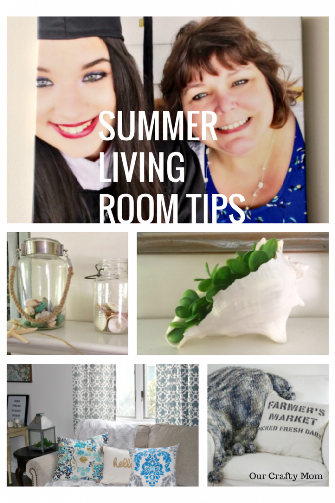 5 Easy Ways To Refresh Your Living Room For Summer Our Crafty Mom @CanvasOnTheCheap #summerlivingroom #summerrefresh #canvasart #sponsored