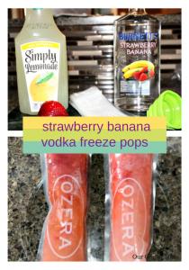 How To Make Strawberry Banana Vodka Freeze Pops **21+**