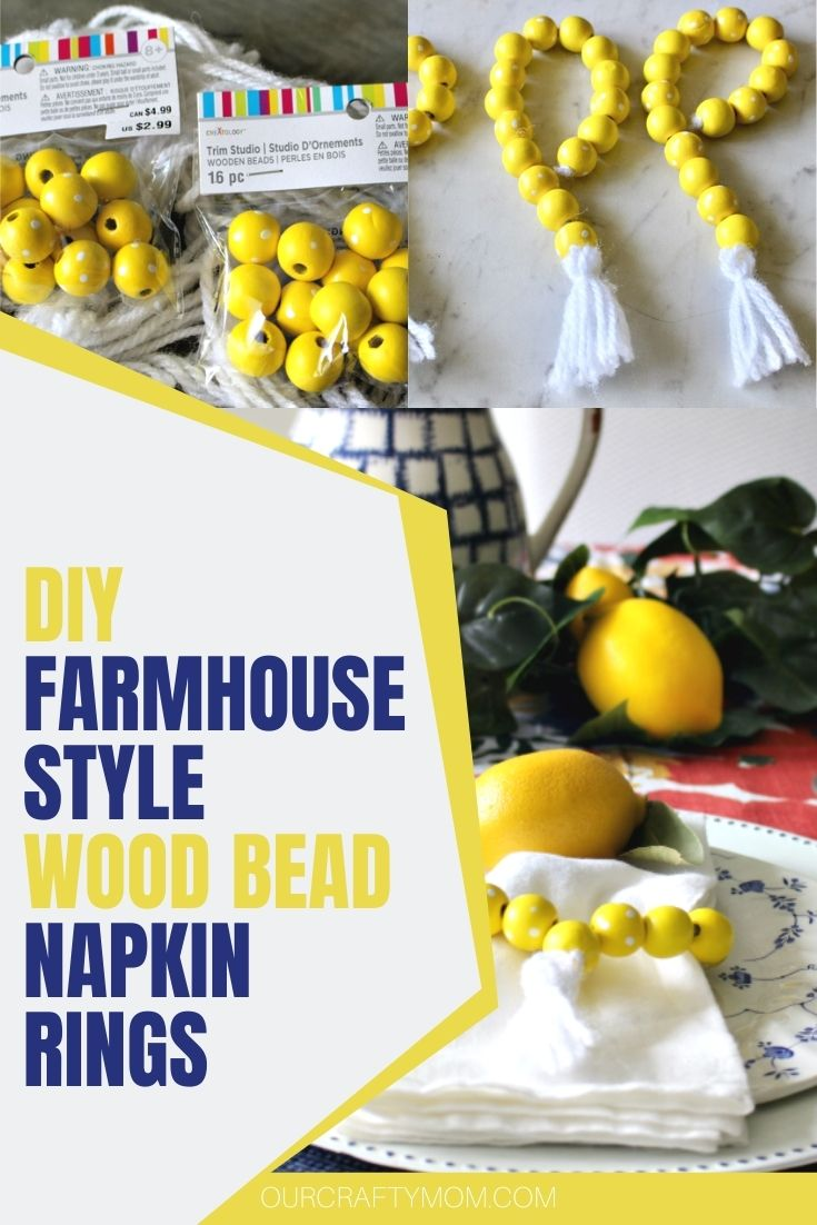 Create Your Own Farmhouse Wood Bead Napkin Rings