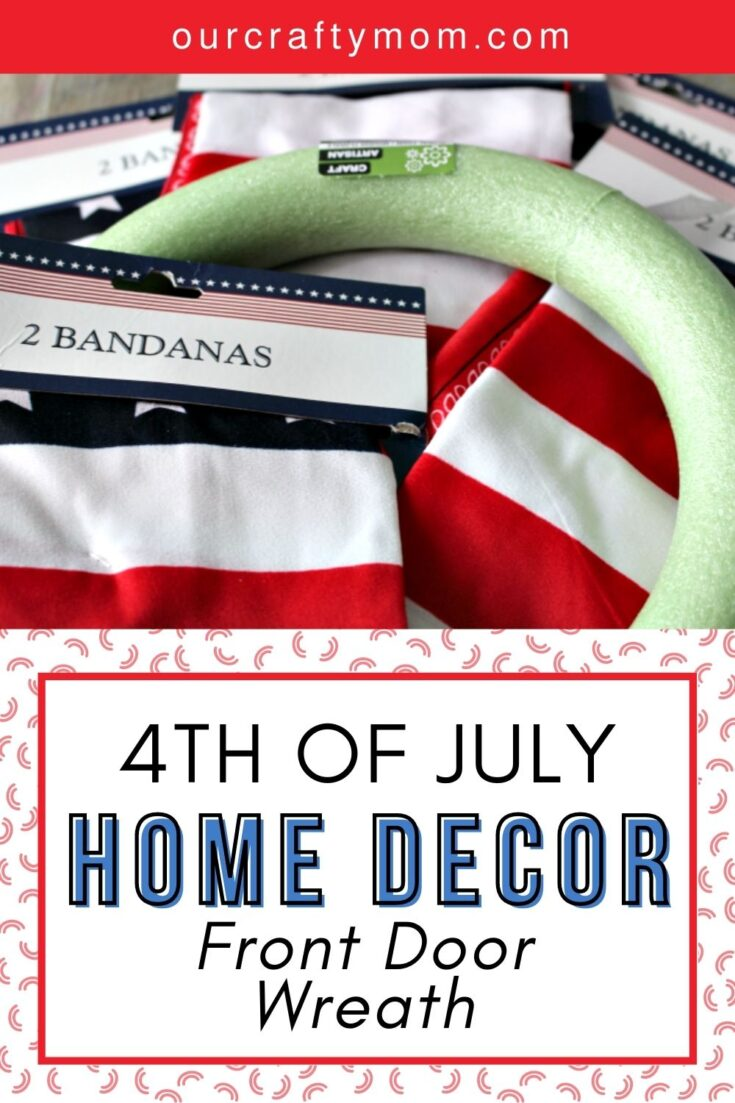 fourth of july wreath supplies