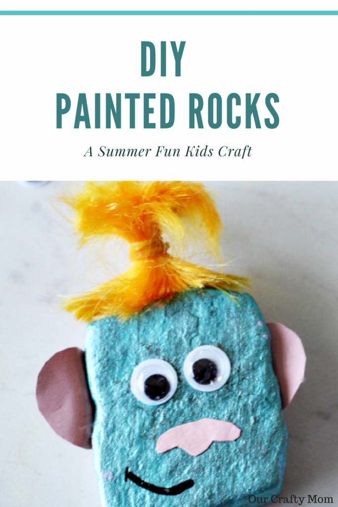 DIY Painted Rocks That The Kids Will Love To Make Our Crafty Mom #paintedrocks #summerfamilyfun #bloghop #ourcraftymom #kidscrafts