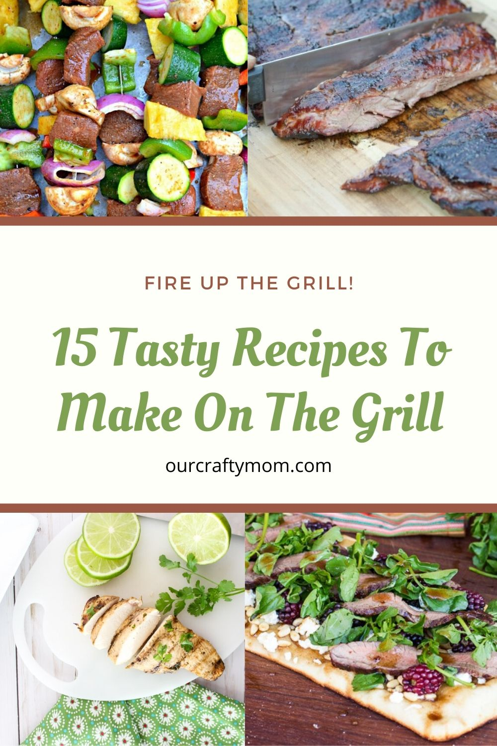collage of 4 grill recipes