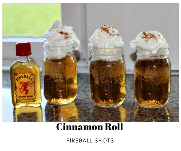 Cinnamon Roll Fireball Shots - Dessert In A Shot! Our Crafty Mom #summercocktailseries #fireballshots #dessertshot #fireball #summerdrink