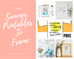 Free Summer Printables Perfect For Framing