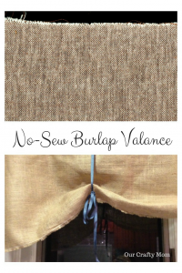 How To  Make A No-Sew Burlap Valance
