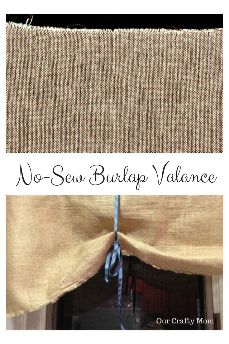 how to make a nosew burlap valance our crafty mom
