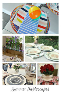 Pretty Summer Tablescapes and DIY Serving Ideas