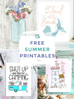 free summer printables collage