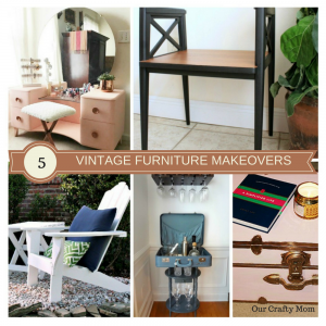 5 Really Cool Vintage Style Furniture Makeovers