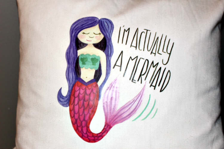 Make A Fun Cricut DIY Mermaid Pillow & Cricut Easy Press Giveaway! Our Crafty Mom @Cricut #cricutmade #GIVEAWAY #mermaidpillow #sponsored #ironon #easypress