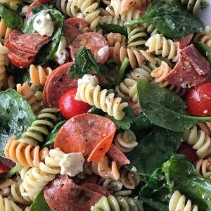 Quick And Easy Italian Pasta Salad Our Crafty Mom #pastasalad #pastafordays #easypastasalad #summersalad