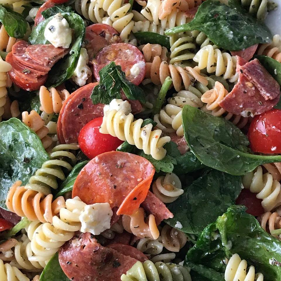Close Up Picture Of Pasta Salad