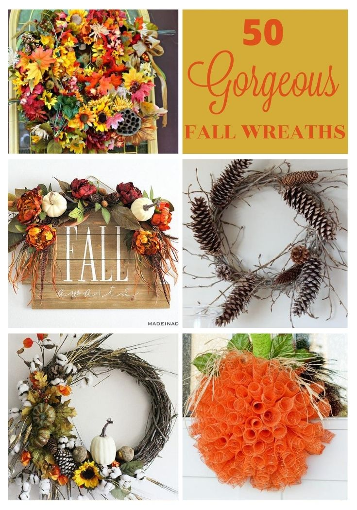 50 diy fall wreaths