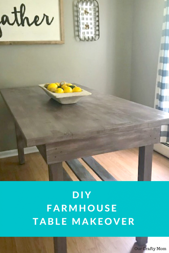 DIY Farmhouse Table Makeover Our Crafty Mom