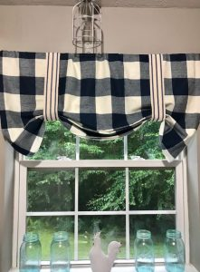 Easy To DIY No Sew Buffalo Check Curtains