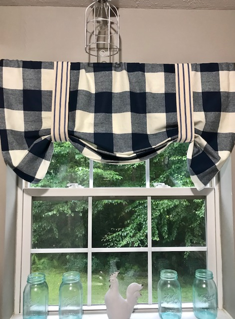 Easy No Sew Buffalo Check Curtains Our Crafty Mom
