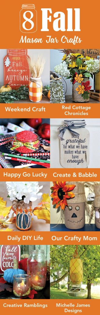 8 Fall Mason Jar Projects Our Crafty Mom