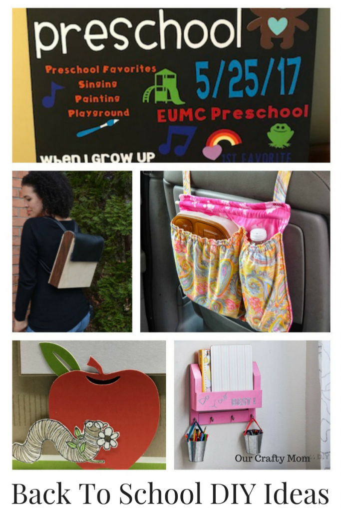 Back To School DIY Ideas Merry Monday Our Crafty Mom