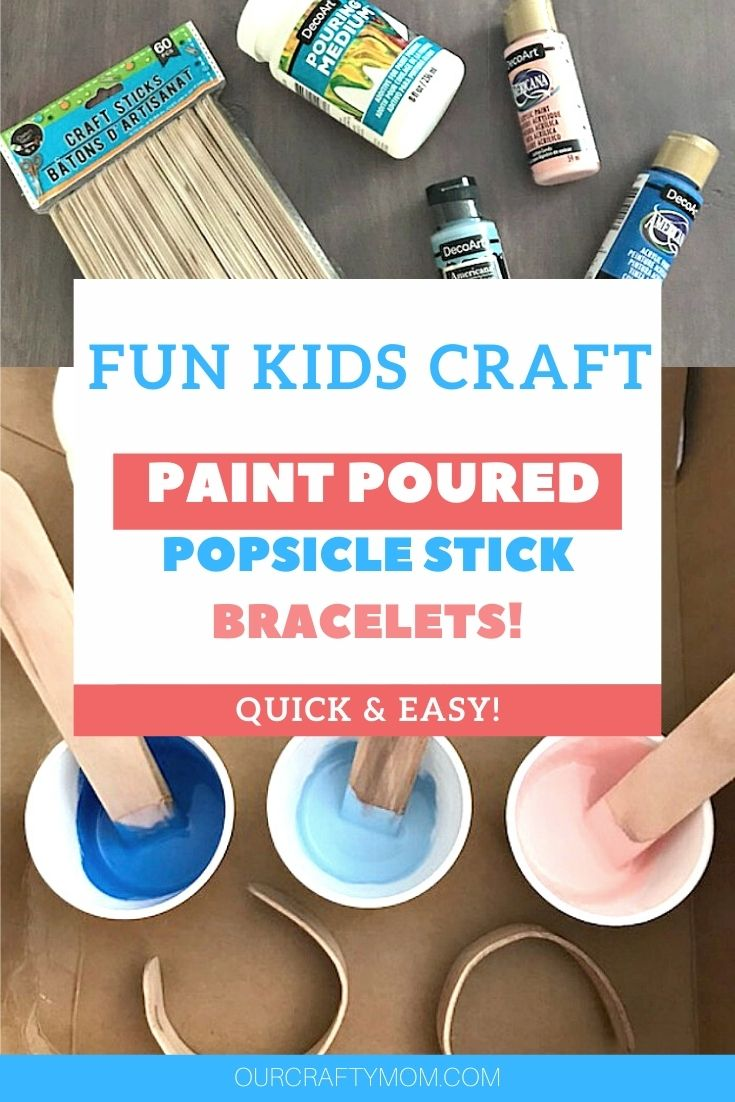 diy paint poured popsicle stick bracelets