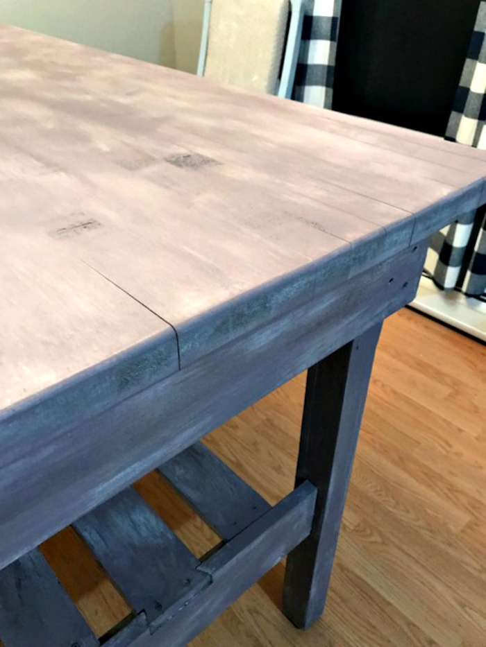 Farmhouse Table With Gray Chalk Paint