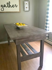 Antique Butcher Block Island Becomes The Perfect Farmhouse Table