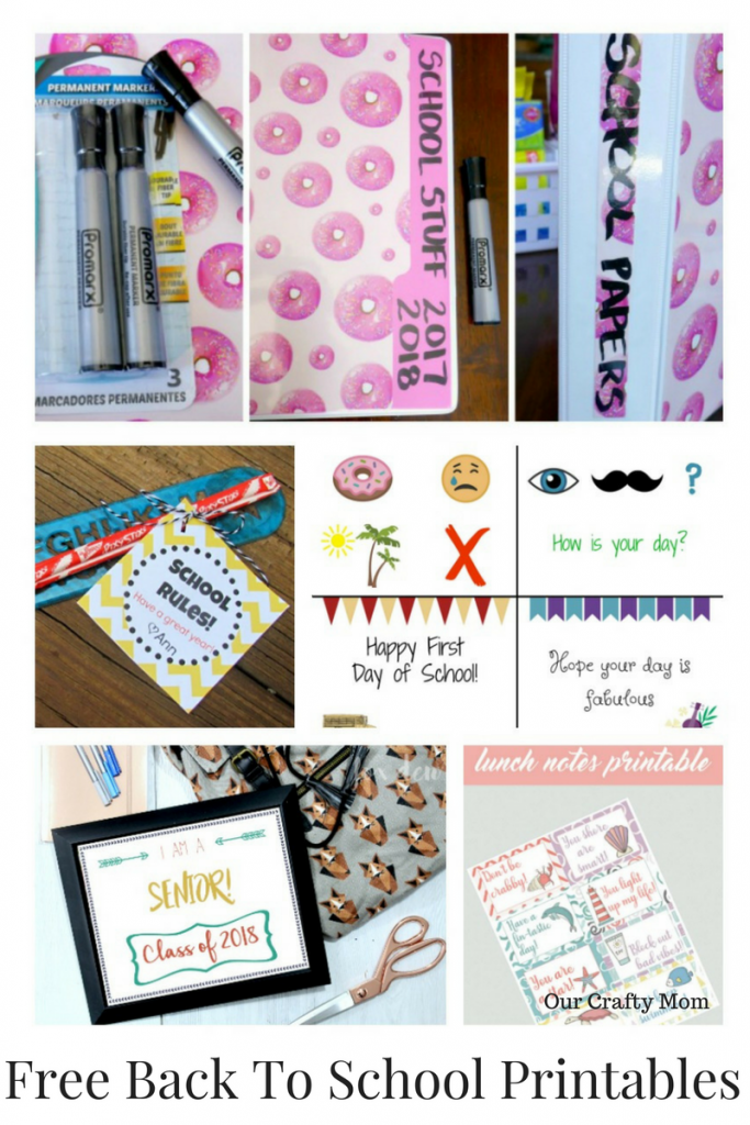 Back To School Free Printables Merry Monday Our Crafty Mom